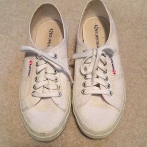 Superga white canvas sneakers, 39, bought in Italy